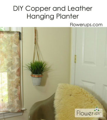 DIY Plant Hanger – Copper Strapping and Leather Cording