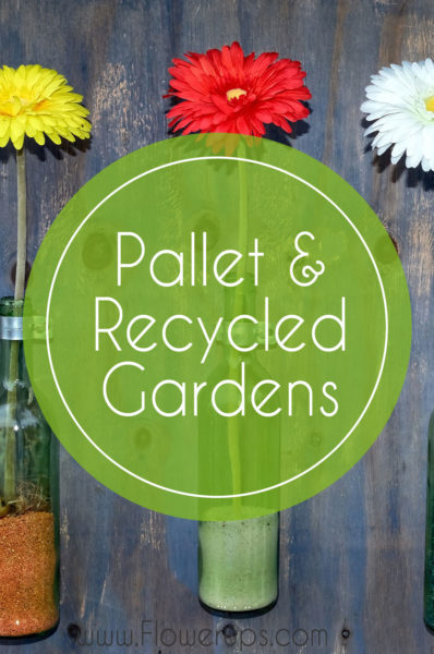 pallet and recycled planter garden