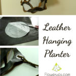 DIY Hanging Planter with leather - tutorial