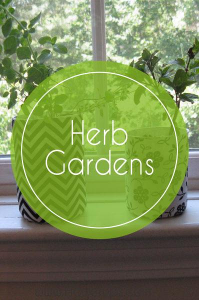 herb gardens and indoor gardens