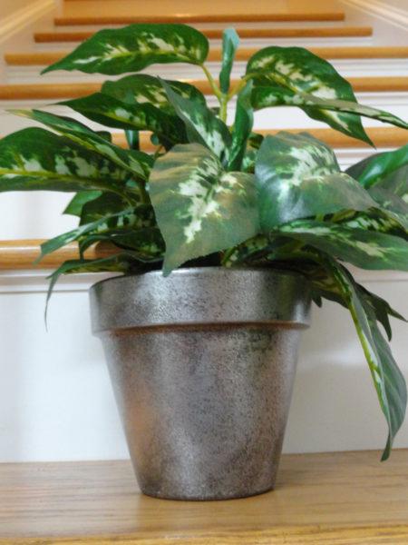 diy silver flower pots
