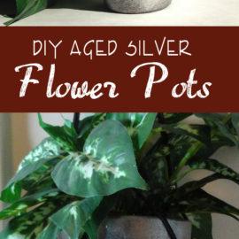 DIY Flower pots – Aged Silver