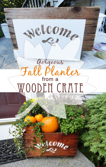 Fall planter - self watering garden container DIY