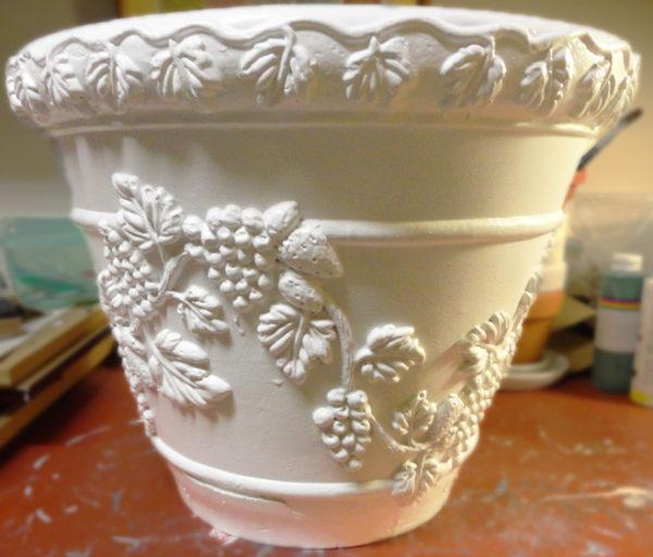 DIY flower pot faux painting