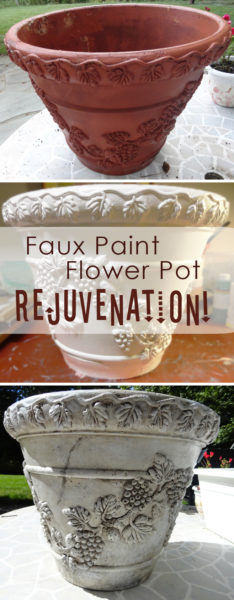 Rejuvenate and old flower pot with faux paint!