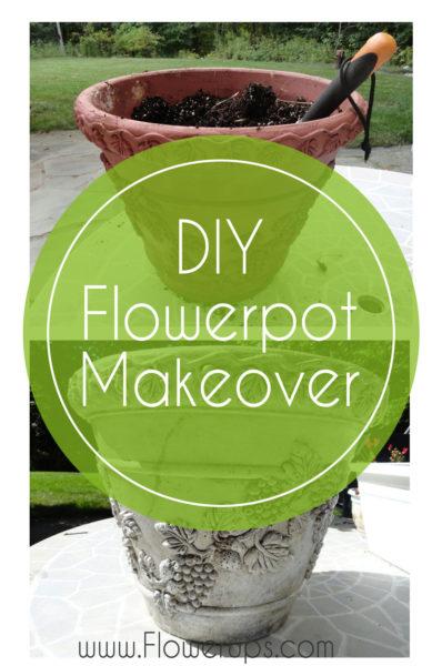 DIY how to rejuvenate a flower pot