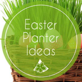 Easter Planters for Spring Porch Decorating