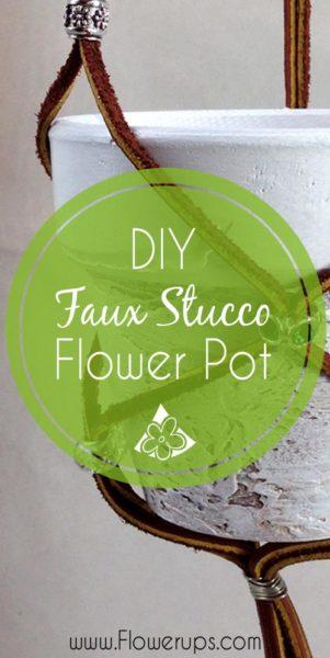 Stucco Flower pot