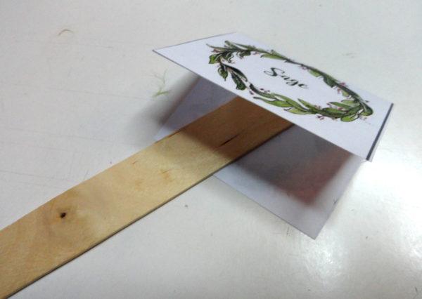 indoor herb garden markers sage