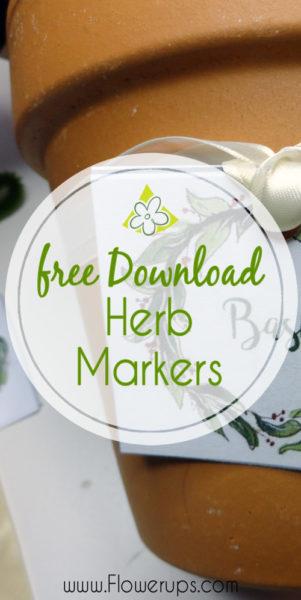 indoor herb garden markers - flower pot