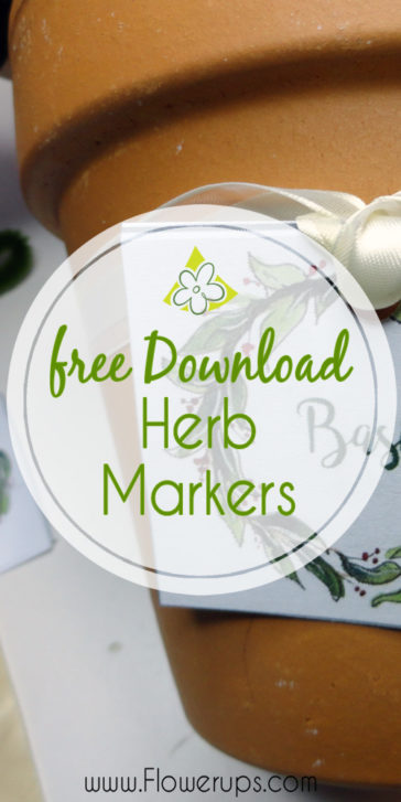 indoor herb garden markers - flower pot